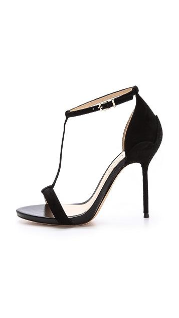 Alexandre Birman Suede T Strap Sandals