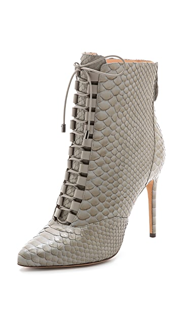 dd4bdd5eb1a Alexandre Birman Python Lace Up Booties