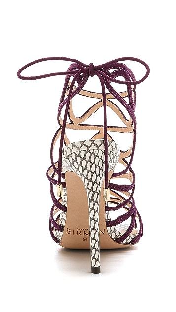 Alexandre Birman Suede Caged Sandals