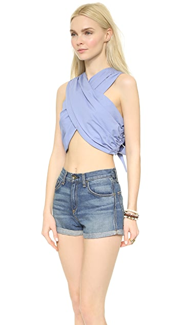 a.c.e. Erin Cross Front Crop Top