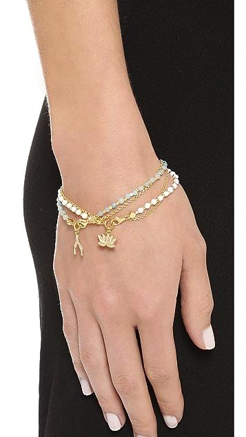 Astley Clarke Amazonite Wishbone Biography Bracelet