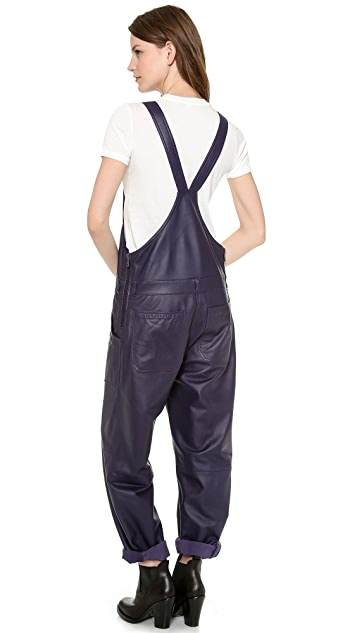 Acne Studios Chagall Leather Overalls