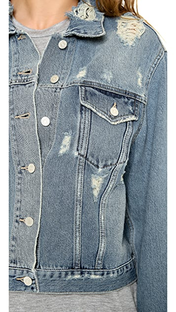 Acne Studios Tram Trashed Denim Jacket