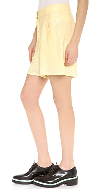 Acne Studios Tine Paillette Embellished Shorts