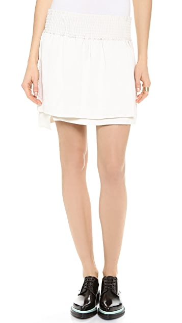 Acne Studios Ilon Layered Miniskirt