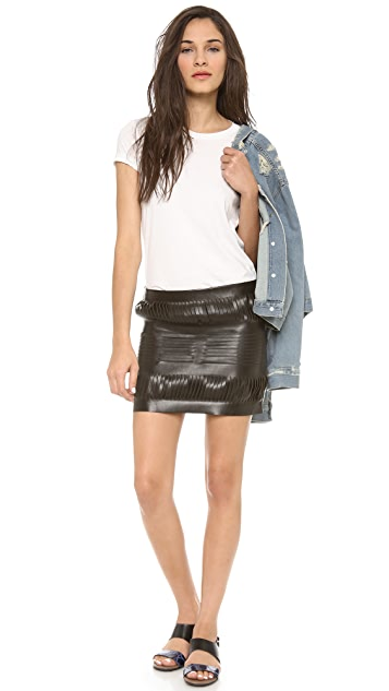 Acne Studios Destroyed Leather Skirt