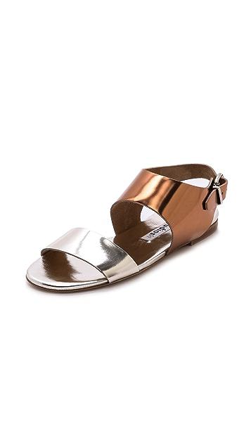 Acne Studios Lottie Metallic Flat Sandals