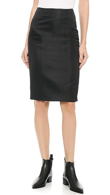 Acne Studios Ginny Tech Satin Skirt