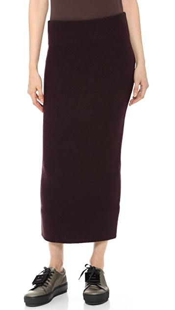 online store eb852 76757 Donna Boiled Wool Pencil Skirt