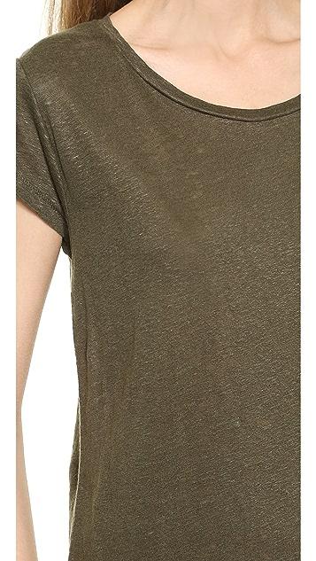 Acne Studios Copy Linen Cap Sleeve Tee
