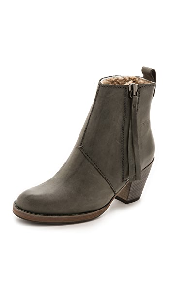 Acne Studios Pistol Ankle Boot with Shearling Lining