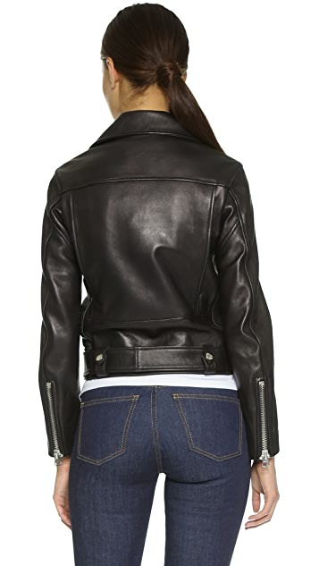 ... Acne Studios Leather Moto Jacket ... 6d775eee55cde
