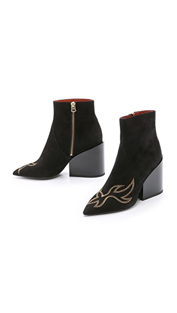 Acne Studios Angel Suede Booties