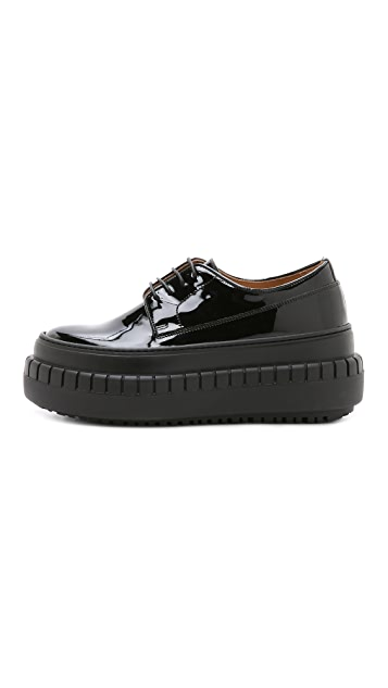 Acne Studios Sacha Laced Platform Loafers