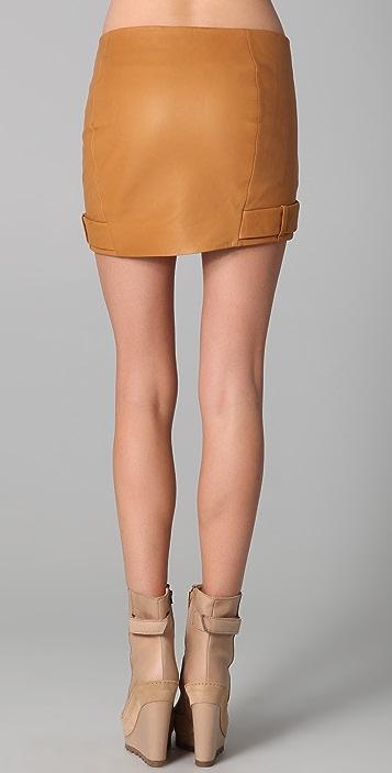 Acne Malakit Leather Skirt