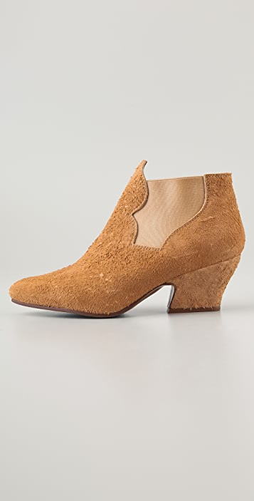 Acne Alma Distressed Suede Booties