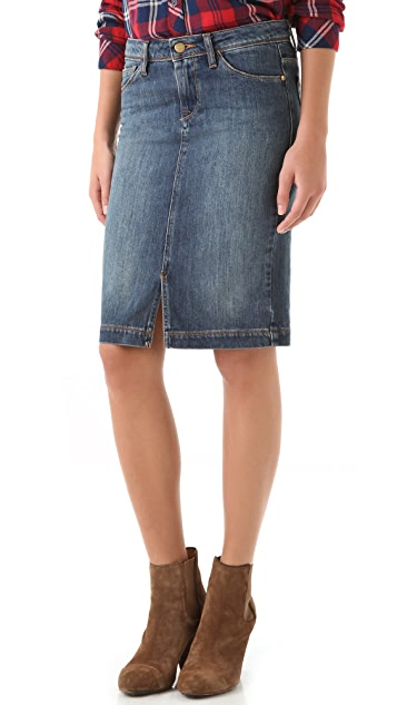 Acquaverde Denim Pencil Skirt