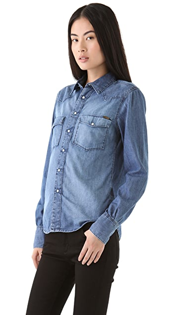 Acquaverde Denim Button Down Shirt