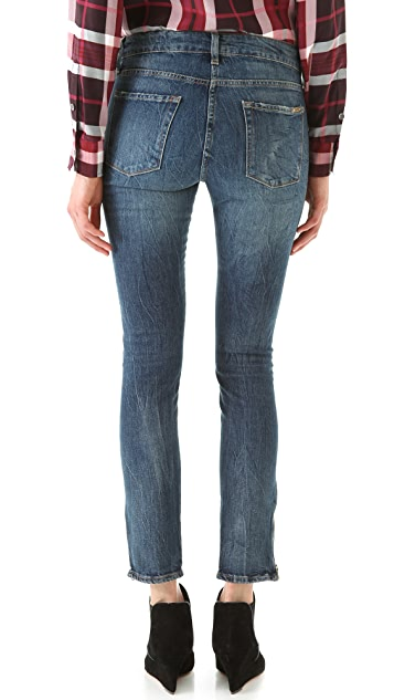 Acquaverde Zip Skinny Jeans