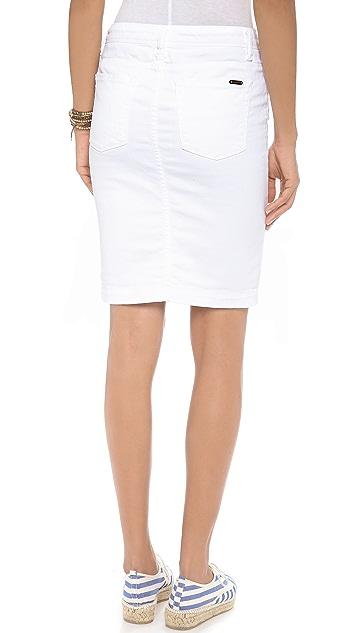 Acquaverde Naomie Denim Pencil Skirt