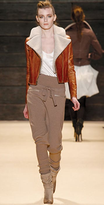ADAM Aviator Jacket with Shearling Collar