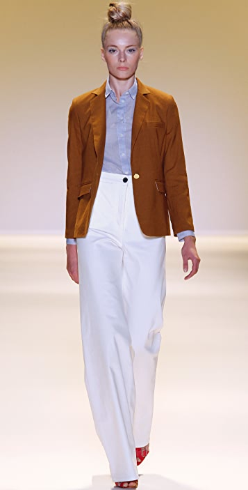 ADAM Stretch Linen Boy Blazer