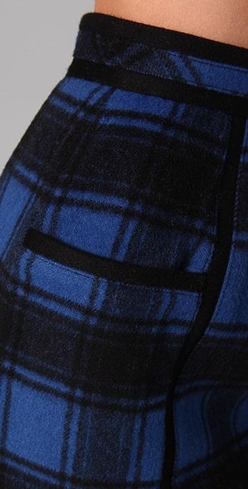 ADAM Plaid Pencil Skirt