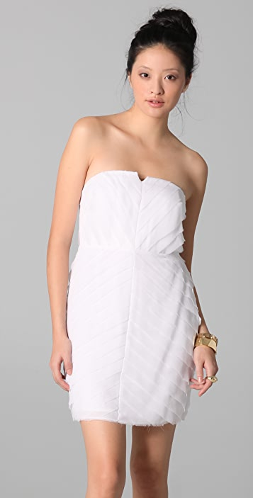 ADAM Tiered Strapless Dress