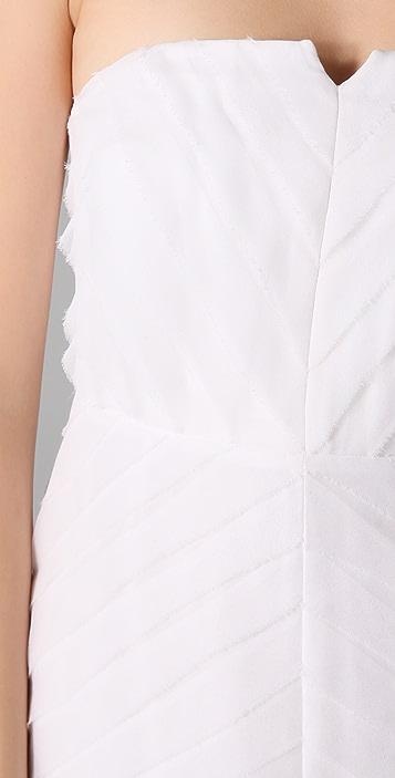 ADAM Tiered Strapless Dress