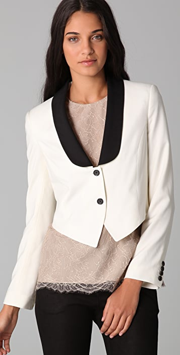 ADAM Cropped Tuxedo Jacket