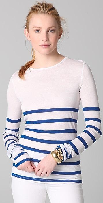 ADAM Long Sleeve Striped Top