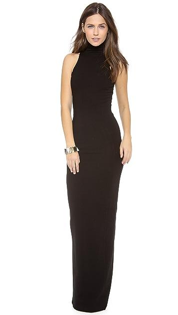 AD Ponte Turtleneck Maxi Dress