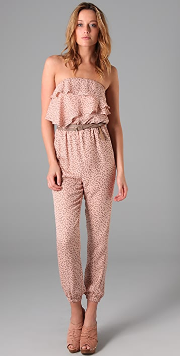 ADDISON Dotty Print Jumpsuit
