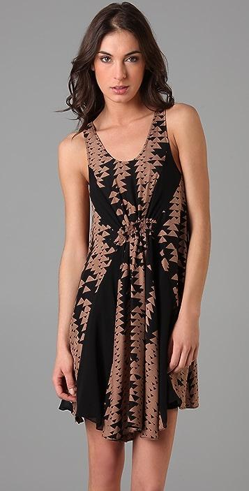 ADDISON Layered Triangle Print Dress