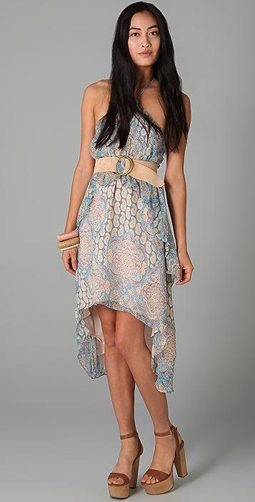 ADDISON Paisley Halter Dress
