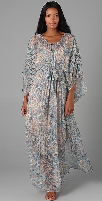 841e26a7312 ADDISON Paisley Caftan Dress