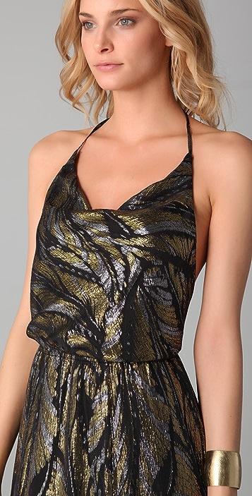 ADDISON Silk Chiffon Maxi Dress