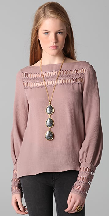 ADDISON Lace Inset Top