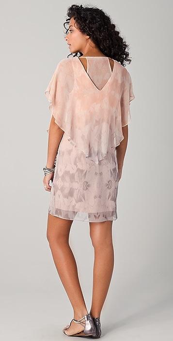 ADDISON Cape Sleeve Easy Dress