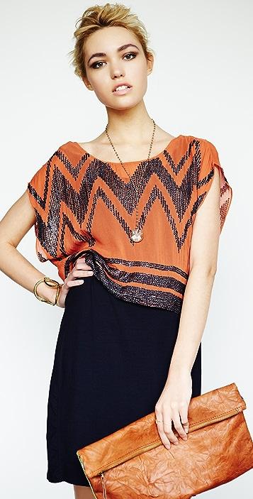 ADDISON Sheer Top Overlay Dress