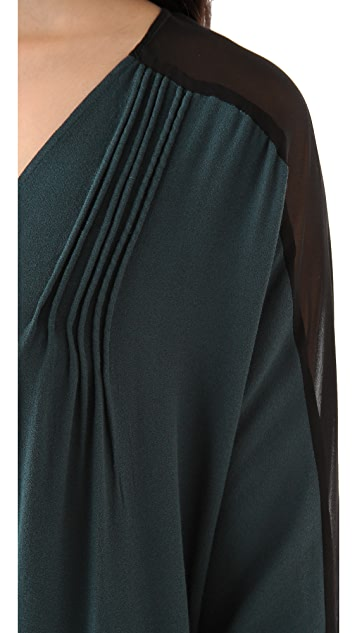 ADDISON Corded Colorblock Dress