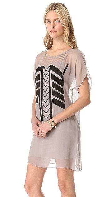 ADDISON Aztec Detail Dress