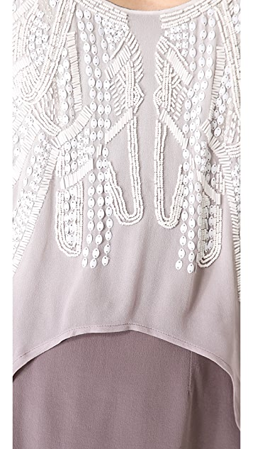 ADDISON Beaded Dip Dye Dress