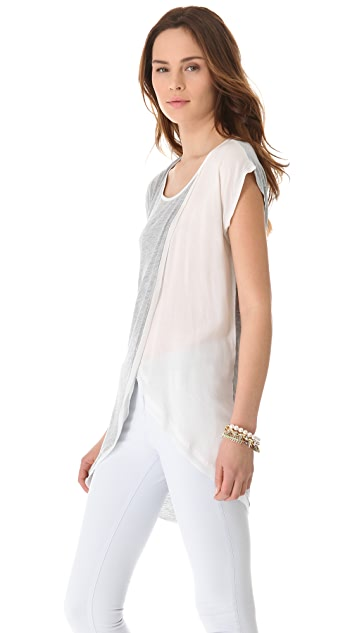 ADDISON Side Drape Crossover Top