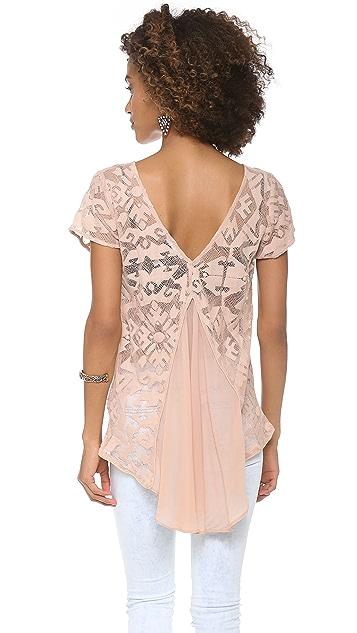 ADDISON Cairo Lace Draped Top