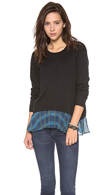 ADDISON Rainey Ruffle Hem Sweater