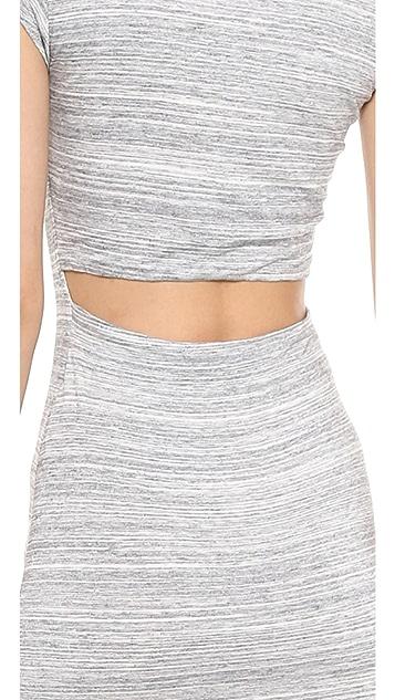 ADDISON Amelia Back Cutout T-Shirt Dress