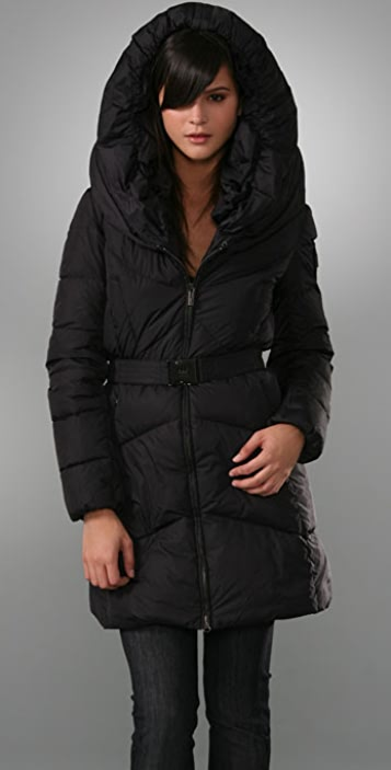 2a0be63bc3c Add Down Long Belted Puffer Coat