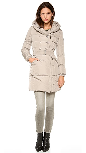 Add Down Belted Down Coat