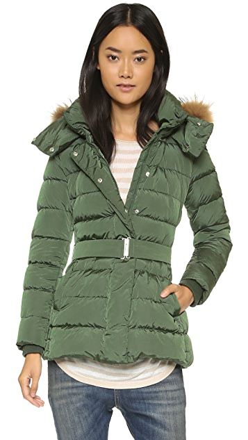 Add Down Down Jacket With Fur Hood